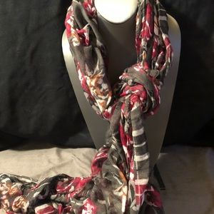 Accessories - Grey and Maroon Checkered Scarf